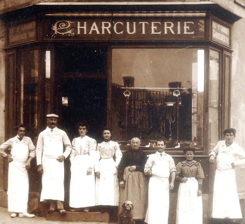 Maurice-Jules Prunier, apprend le savoir-faire charcutier chez son oncle et sa tante Lhuissier